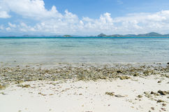 Sea and blue sky in summer at sattahip chonburi thailand Royalty Free Stock Images