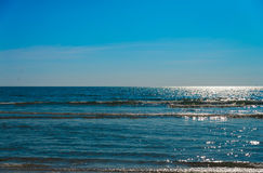 Sea with blue sky in sunny day Stock Image