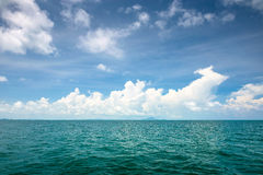 Sea and blue sky in Thailand Stock Images