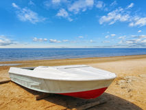 Sea boat at beach Stock Photo