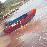Sea boat beach fun Stock Image