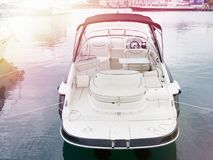 Sea boat in parking. Sea boat in the parking lot stock image