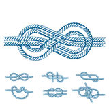 Sea boat rope knots vector illustration isolated marine navy cable natural tackle sign stock illustration