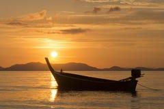 Sea, Boat, Sunset Royalty Free Stock Image