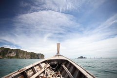 Sea with boat Stock Photos