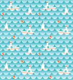 Sea and boats ( background) Royalty Free Stock Photography
