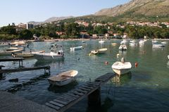 Sea and boats in Croatia Royalty Free Stock Images