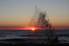 Sea, Body Of Water, Horizon, Sunset stock photography