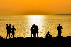 Sea, Body Of Water, Sunset, Yellow Royalty Free Stock Photo