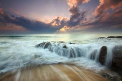 Sea, Body Of Water, Wave, Sky Royalty Free Stock Images
