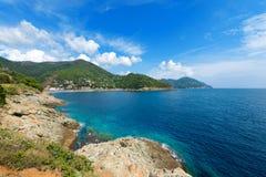 Sea in Bonassola - Liguria - Italy Stock Images