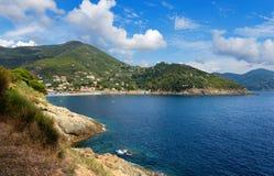 Sea in Bonassola - Liguria - Italy Stock Photos
