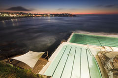 Sea Bondi Beach Pool Above Tent Stock Images
