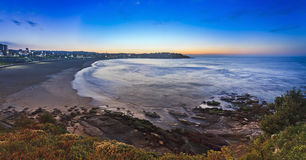 Sea Bondi Beach Rise Elevated Pan Stock Photography