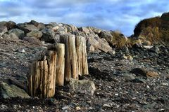 Sea border Royalty Free Stock Images