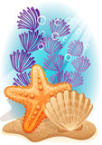 Sea bottom. Vector illustration - tropical sea bottom Royalty Free Stock Photography
