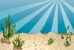 Sea bottom - cartoon style royalty free illustration