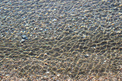 Sea bottom with pebbles Royalty Free Stock Photos