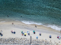 Sea bottom seen from above, Zambrone beach, Calabria, Italy. Aerial view. Sea bottom seen from above, Zambrone beach, Calabria, Italy. Diving relaxation and royalty free stock images