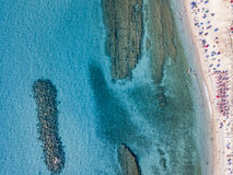 Sea bottom seen from above, Zambrone beach, Calabria, Italy. Aerial view. Sea bottom seen from above, Zambrone beach, Calabria, Italy. Diving relaxation and stock images