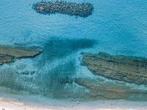 Sea bottom seen from above, Zambrone beach, Calabria, Italy. Aerial view. Sea bottom seen from above, Zambrone beach, Calabria, Italy. Diving relaxation and stock photos