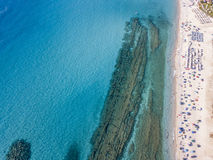 Sea bottom seen from above, Zambrone beach, Calabria, Italy. Aerial view. Sea bottom seen from above, Zambrone beach, Calabria, Italy. Diving relaxation and Royalty Free Stock Photography