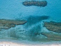 Sea bottom seen from above, Zambrone beach, Calabria, Italy. Aerial view. Sea bottom seen from above, Zambrone beach, Calabria, Italy. Diving relaxation and stock photography
