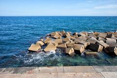 Sea Breakwater Stock Images