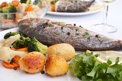 Free Sea Bream Fish With Vegetables Stock Photo - 9623200