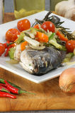 Sea bream from greece with vegetable Stock Photography
