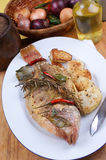 Sea bream from greece with vegetable Stock Photos