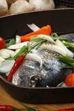 Sea bream from greece with vegetable Stock Image