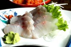 Sea bream sashimi Royalty Free Stock Images