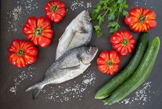 Sea Bream Vegetables Diet Food Royalty Free Stock Photography