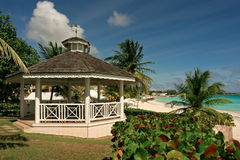 Sea breeze. A wedding gazebo in barbados Royalty Free Stock Photos