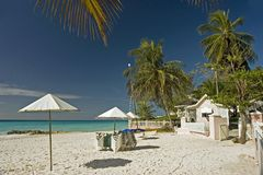 Sea breeze beach. A quiet beach in barbados stock photography