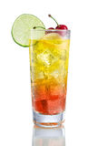 Sea Breeze with Cherry and lime Stock Photography