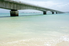 Sea and bridge Royalty Free Stock Photography
