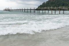 Sea bridge at koh kood island stock images