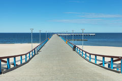 Sea bridge in Palanga, Lithuania, Europe. Royalty Free Stock Photo