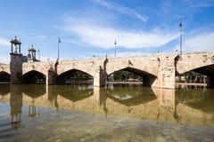 Sea bridge in the Park Turia Gardens Stock Photography