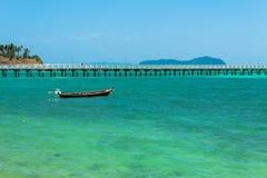The sea and bridge pier. Royalty Free Stock Image