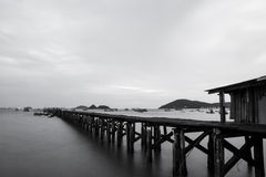 The sea and bridge pier Royalty Free Stock Images