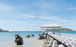 Sea bridge. At Srichang Island Thailand Royalty Free Stock Photo