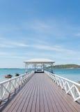 Sea bridge Thailand. Sea bridge at Srichang Island Thailand Stock Photo
