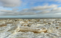 The sea in ice. Stock Images
