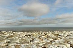 The sea in ice. Stock Photos