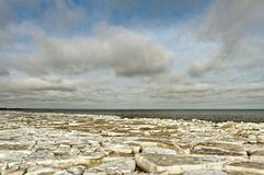 The sea in ice. Royalty Free Stock Photography