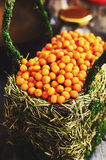 Sea-buckthorn in a basket Royalty Free Stock Images