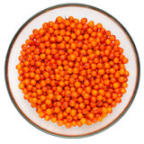 sea buckthorn berries in a plate Royalty Free Stock Photography